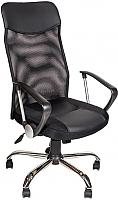 Кресло офисное Алвест AV 128 CH (кожзам/TW-сетка, черный) -