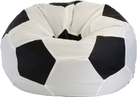 Бескаркасное кресло Flagman Мяч Стандарт М1.1-01 (белый/черный) -