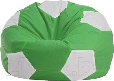 Купить Бескаркасное кресло Flagman, Мяч Стандарт М1.1-0400 (зеленый с белым), Беларусь, белый, оксфорд