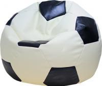 Бескаркасное кресло Flagman Мяч Стандарт М1.3-1016 (белый с черным) -