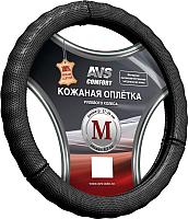 Оплетка на руль AVS GL-296M-B / A78663S (M, черная) -