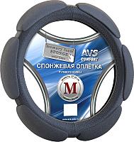 Оплетка на руль AVS SP-426M-B / A78719S (M, черный) -