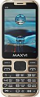 Мобильный телефон Maxvi X10 (Metallic gold) -