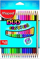 Набор цветных карандашей Maped Duo (18шт) -