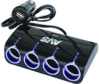 Разветвитель в прикуриватель AVS CS410U / A78116S -