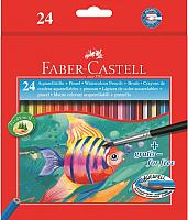 Набор карандашей Faber Castell Цветные акварельные с кисточкой (24шт) -