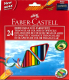 Набор карандашей Faber Castell Eco треугольные с точилкой (24шт) -