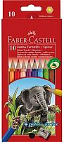 Набор карандашей Faber Castell Jumbo с точилкой (10шт) -
