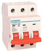 Выключатель автоматический Hyundai HIBD 63 3P 6kA 25A C -
