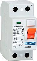 Устройство защитного отключения Hyundai HIRC63 2P (1P+N) 63A 30mA A type -
