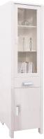 Шкаф с витриной Dipriz Мадейра Д.6162.2 (белый воск) -