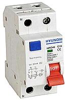 Дифференциальный автомат Hyundai HIRO40 1P+N 10A 4.5kA 30mA -