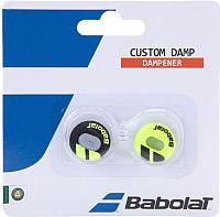 Виброгаситель для теннисной ракетки Babolat Custom Damp X2 / 700040-142 (2шт, черный/желтый) -