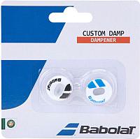 Виброгаситель для теннисной ракетки Babolat Custom Damp X2 / 700040-153 (2шт, белый/синий) -