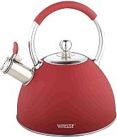 Чайник со свистком Vitesse VS-1130 (красный) -