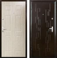 Входная дверь Промет Орион Сити 2 беленый дуб/медный антик (98x206, левая) -