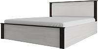 Двуспальная кровать SV-мебель Гамма 20 Ж 160x200 (ясень анкор светлый/венге) -