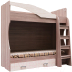 Двухъярусная кровать детская SV-мебель Город Ж 80x186 с ящиком (ясень шимо темный/ясень шимо светлый) -
