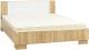 Двуспальная кровать SV-мебель Спальня Лагуна 2 Ж 160x200 (дуб сонома/белый глянец) -