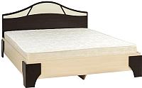 Двуспальная кровать SV-мебель Спальня Лагуна 5 Ж 160x200 (дуб венге/дуб млечный) -