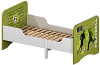 Односпальная кровать Polini Kids Fun 3200 раздвижная Футбол (зеленый) -