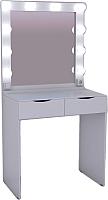 Туалетный столик с зеркалом Мир Мебели SV-01WL с подсветкой -