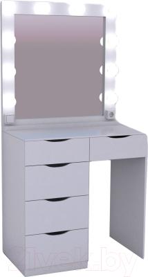 Туалетный столик с зеркалом Мир Мебели SV-02R с подсветкой
