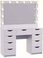 Туалетный столик с зеркалом Мир Мебели SV-06 с подсветкой -