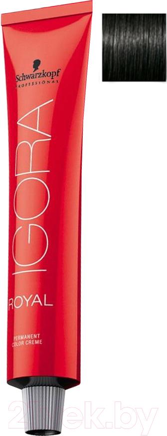 Купить Крем-краска для волос Schwarzkopf Professional, Igora Royal Permanent Color Creme 1-0 (60мл), Германия, чёрный