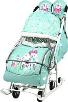 Санки-коляска Ника Disney-Baby 2. Минни Маус / DB2/2 (мятный) -