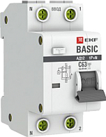 Дифференциальный автомат EKF Basic АД-12 1P+N 16А 30мА АС C / DA12-16-30-bas -