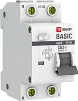 Дифференциальный автомат EKF Basic АД-12 1P+N 25А 30мА АС C / DA12-25-30-bas -