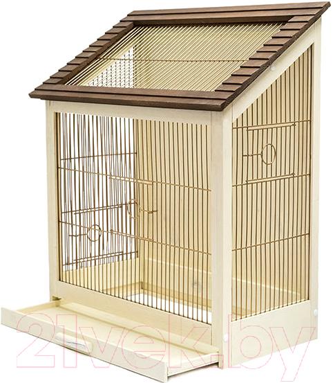 Купить Клетка для птиц ZooM, Ретро-кантри / RP8765 (золото), Россия, дерево светлое