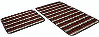 Набор ковриков Shahintex PP Loop Loop 50x80/50x40 (бордовый) -
