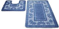 Набор ковриков Shahintex РР 50x80/50x50 (голубой) -
