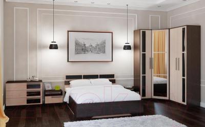 Двуспальная кровать SV-мебель Спальня Эдем 2 160x200 (дуб венге/дуб млечный)
