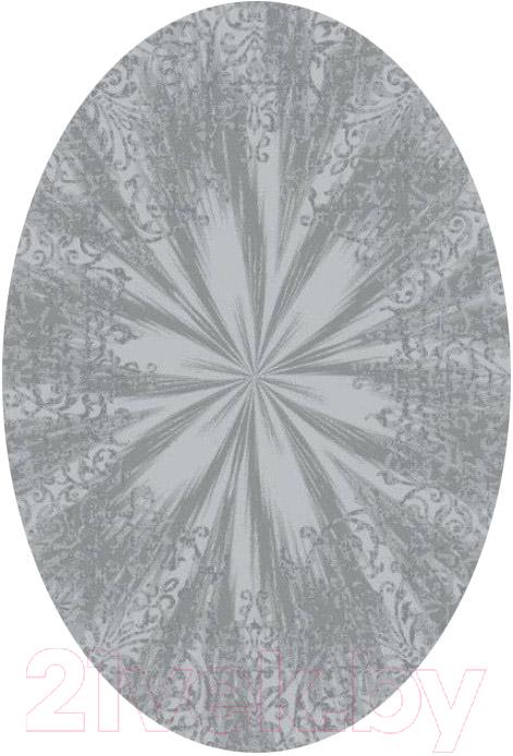 Купить Ковер OZ Kaplan, Maximillian Oвал 07927A (2x3, светло-серый), Турция