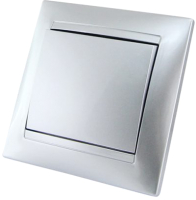 Выключатель TDM Лама SQ1815-0201 (серебристый металлик) -
