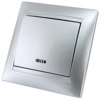 Выключатель TDM Лама SQ1815-0204 (серебристый металлик) -