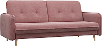 Диван Woodcraft Клайд вариант 1 (розовый вельвет) -