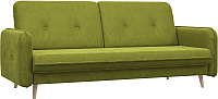 Диван Woodcraft Клайд вариант 6 (зеленый велюр) -