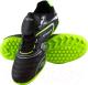 Бутсы футбольные Atemi SD300 TURF (черный/салатовый, р-р 34) -