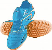 Бутсы футбольные Atemi SD300 TURF (голубой/оранжевый, р-р 35) -