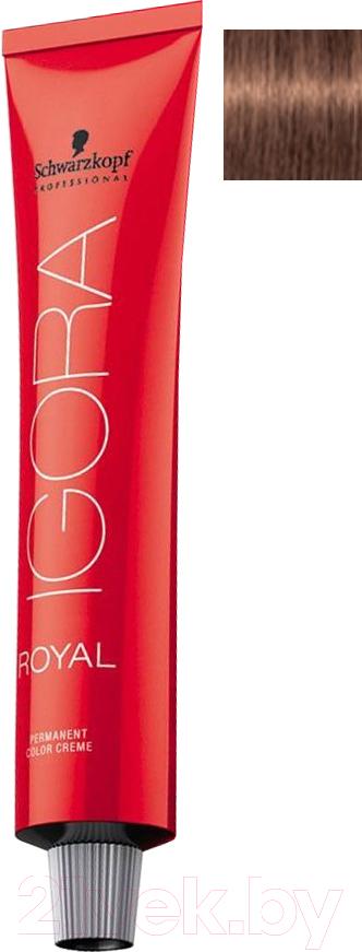 Купить Крем-краска для волос Schwarzkopf Professional, Igora Royal Permanent Color Creme 7-57 (60мл), Германия, шатен