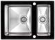 Мойка кухонная ZorG GS 6750-2 (черный) -