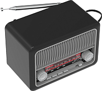 Радиоприемник Ritmix RPR-035 (серебристый) -