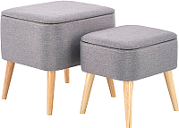 Комплект мягкой мебели Halmar Pula / V-CH-Pula-Pufa-Popiel (серый) -