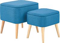 Комплект мягкой мебели Halmar Pula / V-CH-Pula-Pufa-Niebieski (синий) -