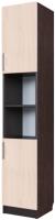 Шкаф-пенал SV-мебель №7 2 створки (дуб венге/дуб млечный) -
