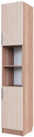 Шкаф-пенал SV-мебель №7 2 створки (ясень шимо темный/ясень шимо светлый) -